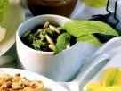 Millet and Cornmeal Cakes with Wild Garlic Pesto recipe