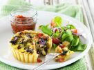 Mini Bell Pepper & Eggplant Quiches recipe
