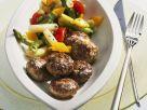 Mini Meatballs with Asparagus Salad recipe