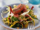 Mixed Green Salad with Ostrich recipe