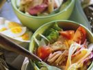 Mixed Salad with Egg and Turkey recipe