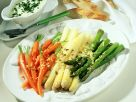 Mixed Vegetables with Creamy Egg Sauce recipe