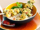 Monkfish Skewers with Turmeric and Mint recipe