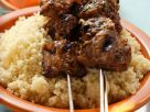 Moroccan-style Lamb Kebabs over Couscous recipe