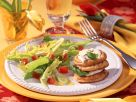 Mozzarella Pancake Stacks and Dandelion Salad recipe