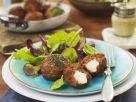 Mozzarella-Stuffed Meatballs with Green Salad recipe