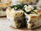 Mushroom and Mozzarella Quiche with Pine Nuts recipe