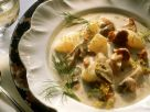 Mushroom and Potato Stew with Cream Sauce recipe
