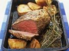Mustard and Rosemary Crusted Roast Beef recipe