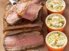 Roast Beef with Zucchini and Feta Cheese Gratin recipe