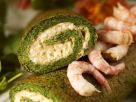 Nettle Roulade with Cottage Cheese and Shrimp recipe