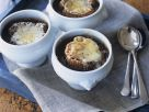 Onion Soup with Whole Wheat Bread and Melted Cheese recipe