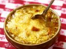 Onion Stew and Cheese Croutons recipe