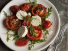Oven Roasted Tomato Salad with Goat Cheese and Arugula recipe