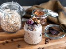 Overnight Oats with Coffee and Blackberries recipe