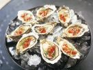 Oysters on the Half Shell with Spicy Tomato Salsa recipe