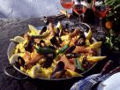 Paella with Mussels and Chicken recipe