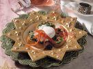 Parsley Pesto Crostini with Poached Eggs recipe