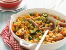 Pasta and Vegetable Stir-Fry with Sausages recipe