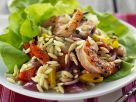 Pasta Salad with Shrimp and Vegetables recipe