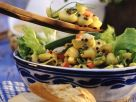 Pasta Salad with Vegetables and Lentils recipe