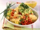 Pasta with Bell Peppers and Avocado Salsa recipe