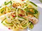 Pasta with Squid, Zucchini and Pepperoncini recipe