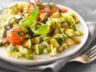 Pasta with Zucchini, Eggplant and Arugula Pesto recipe