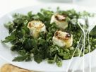 Pea and Bean Salad with Herbs and Baked Goat Cheese recipe