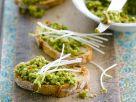 Pea Puree on Ciabatta Bread recipe