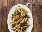 Penne with Beans, Mushrooms and Bacon recipe