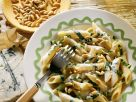 Penne with Swiss Chard, Pine Nuts and Gorgonzola recipe