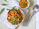 Penne with Tomato Sauce and Chickpeas recipe