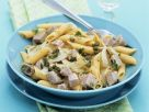 Penne with Tuna Steak recipe