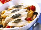 Perch with Roasted Vegetables recipe