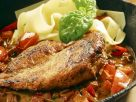 Pheasant Breast with Pepper Sauce and Pasta recipe