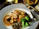 Pheasant with Mushrooms and Wild Rice recipe