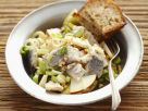 Pickled Fish with Sliced Leeks and Nuts recipe