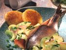 Pickled Herring with Cucumber and Potato Salad recipe