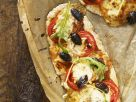 Pizza with Tomatoes and Arugula recipe