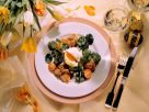 Poached Eggs and Sweetbreads with Salad recipe