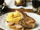 Apple Puree with Pan-fried Chops recipe