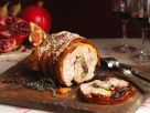Pork Loin Stuffed with Apples, Pistachios & Pomegranates recipe