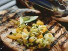 Pork Steaks with Fruit Salad recipe