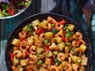 Potato and Shrimp Pan with Peppers recipe