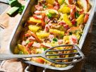 Potato and Smoked Pork Casserole with Apples and Nuts recipe