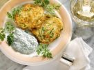 Potato and Zucchini Latkes with Herb Yogurt recipe