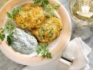 Potato and Zucchini Fritters with Herb Yogurt recipe