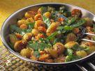 Potato Bulgur Pan with Sugar Peas and Carrots recipe