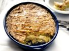 Potato Gratin with Cheese and Salami recipe